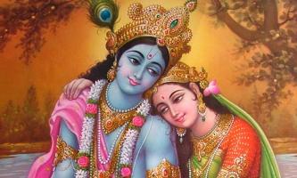 Immagine Radha e Krishna