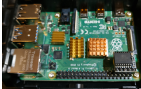 Il Real Time Clock (RTC) per Raspberry Pi 4 montato